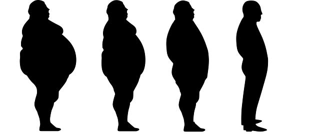 siluety při hubnutí