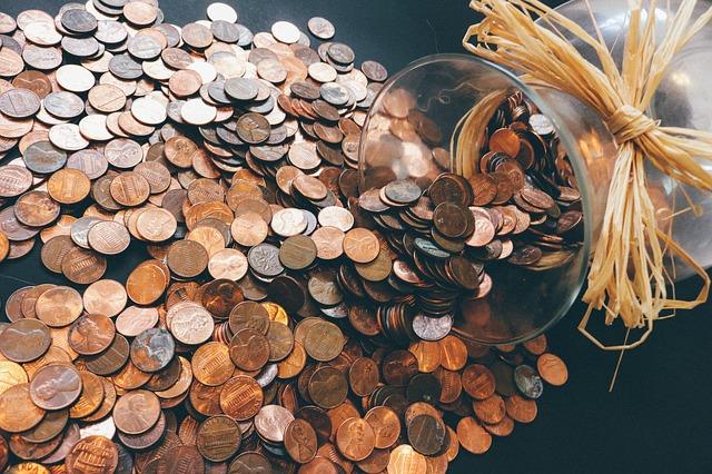 váza a peníze